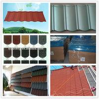 Eco-friendly recycled design stone coated roof tile kenya tile