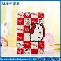 Cute Wholesale Hello Kitty New Products For Ipad 6 PU Leather Printing Case