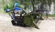 New type crawler-type mini combine rice/wheat harvesting machine