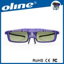 Popular 3D Oline glasses CX-30 with 96-144Hz dlp link eyewear 3d active