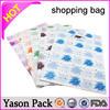Yason personalized cheap shopping bags small shopping plastic bags die cut handle poly shopping bag