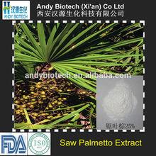 Top Quality 25% Total Fatty acids Saw Palmetto Powder Extract