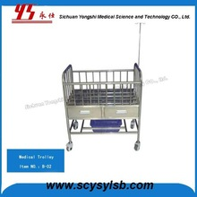 New Design Moving Hospital New born Baby Cot cart with Wheels