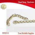 Plata& de oro de aceroinoxidable pulido enorme cubano frenar la cadena de collar