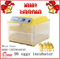 96pcs latest microprocessor technology chicken incubator