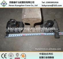 Steel railway track; crane rail