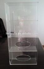 table top transparent acrylic disposable glove box/wall mounted acrylic glove dispenser/acrylic glove box holder