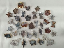 Any kinds of shape about natural quartz rough gemstone plated edge for sale