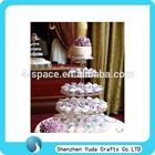5 tiered round acrylic cupcake tower,plexiglass cupcake stand,lucite cake holder