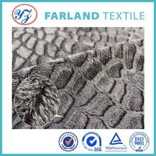 black color long pile plush fabric for fashion quilt