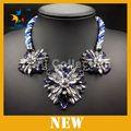 Forma collar declaración, joyería de plata tibetana, artificial collar de perlas
