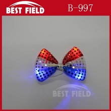 American Flag Event flashing light up led bowtie