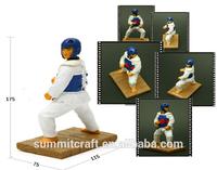Korean souvenirs taekwondo resin defensive stance figurine