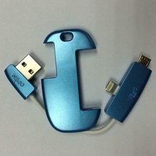 creative key chain USB cable for iPhone 5/6 and for Android