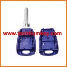 blu 1 pulsante del telecomando il tasto bianco copertura caso shell per fiat bravo caso remoto chiave fob guscio vuoto caso coprire con logo