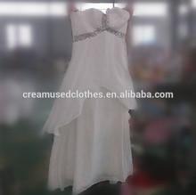 Fashion wedding dress bulk used clothing wholesale
