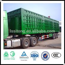 China manufacturer cargo box semi trailer , van semi trailer , van truck trailer for sale