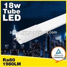 2015 hot TUV mark AC100-240V 1.2m 18w t8 pure white led tubes