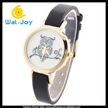 special owl face design fashion smart cheap charming students watch(WJ-3514)