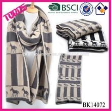 Fashion Horse Scarf, Men Scarf, Knitting Pattern Scarf