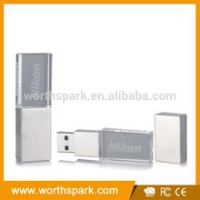 1gb 2gb 4gb 8GB 16gb 32gb custom shaped transparent glass usb flash drive