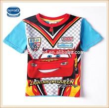 (C2553) 3-6Y fashion nova designs boys cartoon car kid ca printed summer t shirts kids boy