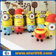cartoon pvc minions pendrive 8gb,promotional gift usb pendrive minions