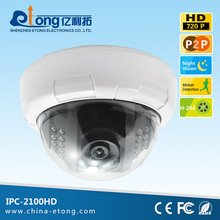 PC/Mobile viewing mini ir dome cctv camera wifi ip with night vision/motion detection