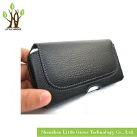 for iPhone 6 4.7'' Black Leather Belt Clip Holster Pouch Carrying Case