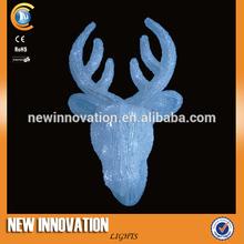 17CM 20L LED Wall Decoration Mounted Deer Head Christmas Reindeer Antler Headbands