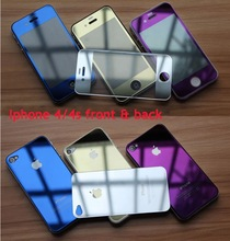 Color Tempered glass screen protector gold Screen protector tempered glass for iphone 5/5s