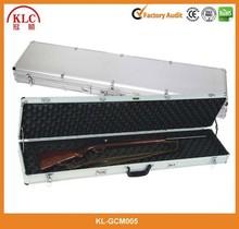 Rolling Deluxe Aluminum Locked Gun Case Rifle Lock Shotgun Storage case with Wheels