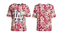 100% polyester brand full printing fashion t-shirt