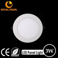 High Bright Round Small LED Panel Light 3W for House with CE RoHS
