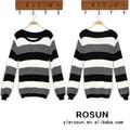Francês blusas marca listrado preto e branco blusas de tricô modelos
