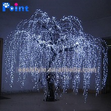 christmas decoration and wholesale christmas decorations artificial white willow tree with LED for christmas decor