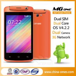 China best oem 4 inch MTK Dual Sim 3g celullar android non camera phone