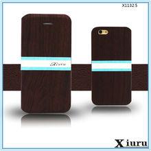 Fancy wood grain design flip cover phone case for meizu mx4 pro