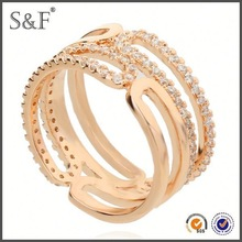 YIWU FACTORY!! Newest Style Crystal letter r finger rings