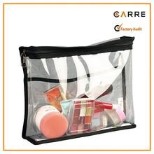 promotional clear vinyl PVC cosmetic bag transparent