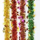 PET/PVC foil wedding tinsel Christmas tassel garland Christmas inflatable tinsel decoration
