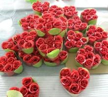 bath confetti in heart shape pvc box with ribbon--412047