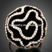 2015 Factory China new design black flower ring