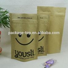heat seal packaging kraft paper coffee/tea bags with zipper