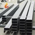 Jis estándar de laminado en caliente de acero del canal, emisión de carbono de acero estructural del canal u
