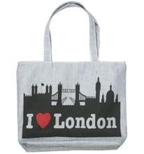 Eco friendly fashion London 100% cotton canvas souvenir bag