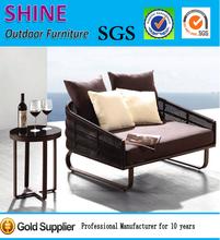 Garden furniture 2015 new rattan single sofa and table set CT2014465