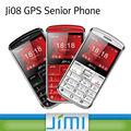 Jimi mais quentes gps telefone sênior gps+lbs duplo posicionamento de discagem rápida e sos ji08