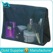 Deluxe Black Mesh Zipper Purse Hotel Toiletry Kit Travel Hotel Toiletry Kit