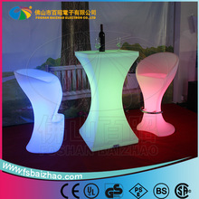 LED Lounge table/Multi Color Change party LED Cocktail Table